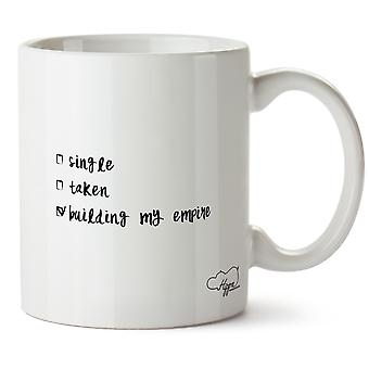 Hippowarehouse singel, tagit, bygga min Empire 10oz mugg Cup