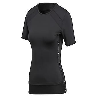 Adidas By Stella Mccartney Black Polyester T-shirt