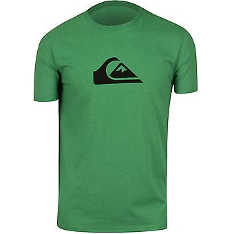 Quiksilver Mens Mountain Wave T-Shirt - Heather Green/Navy