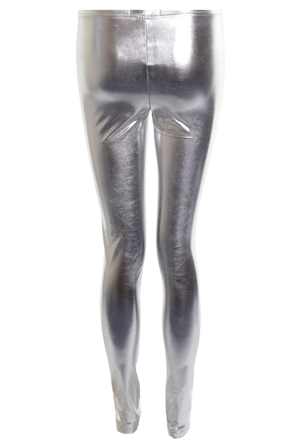 New Ladies Shiny Sexy Wet Look Skinny Slim Animal Print  Women's Leggings