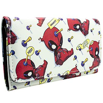 Marvel Deadpool Chibi Quote Bubbles Coin & Card TriFold Purse