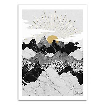 Art-Poster - Sun Rise - Kookie Pixel 50 x 70 cm
