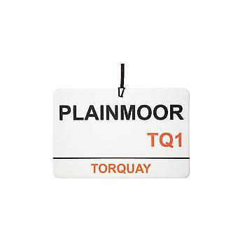 Torquay / Plainmoor stadio Street Sign deodorante per auto