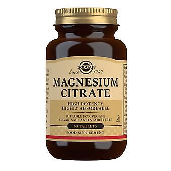 Comprimidos de citrato de magnésio Solgar 60 (1710)