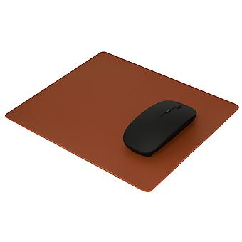 TRIXES Leather Effect Mouse Mat Pad Executive Use on Desks - 26 x 21cm –Brown