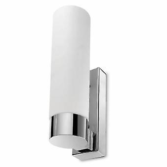 1 Light Bathroom Small Wall Light Chrome Ip44