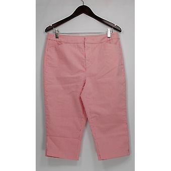Liz Claiborne New York Petite Pants Jackie Railroad Stripe Pink A252123