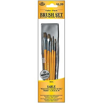 Brush Set Value Pack Sable 5 Pkg Shader 2,4,6,8,10 9120