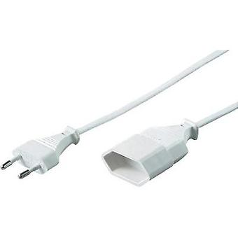 Current Extension cable [ Europlug - Euro connector] White 3 m Goobay 50507