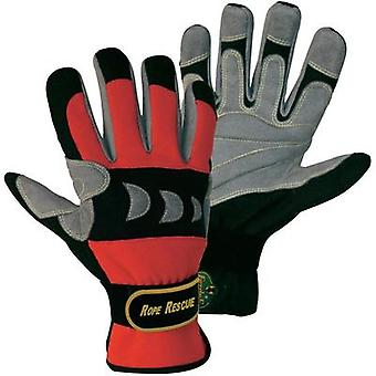 FerdyF. 1977 Red, Black Artificial-Leather and Spandex Rope Rescue Gloves EN 388