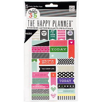 Create 365 Planner Stickers 5 Sheets/Pkg-Bold - Washi PPS5-05