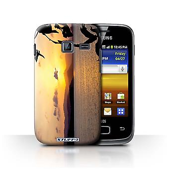 STUFF4 Case/Cover for Samsung Galaxy Y Duos/S6102/Mountain Range/Sunset Scenery