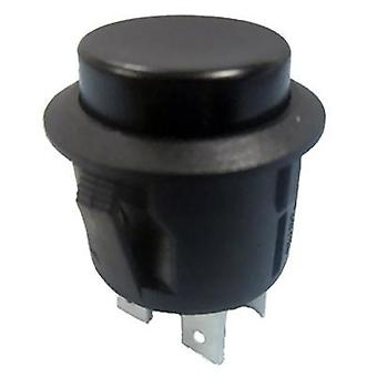 Pushbutton switch 250 Vac 6 A 2 x On/Off SCI R13-527B-02 BLACK KNOB latch 1 pc(s)