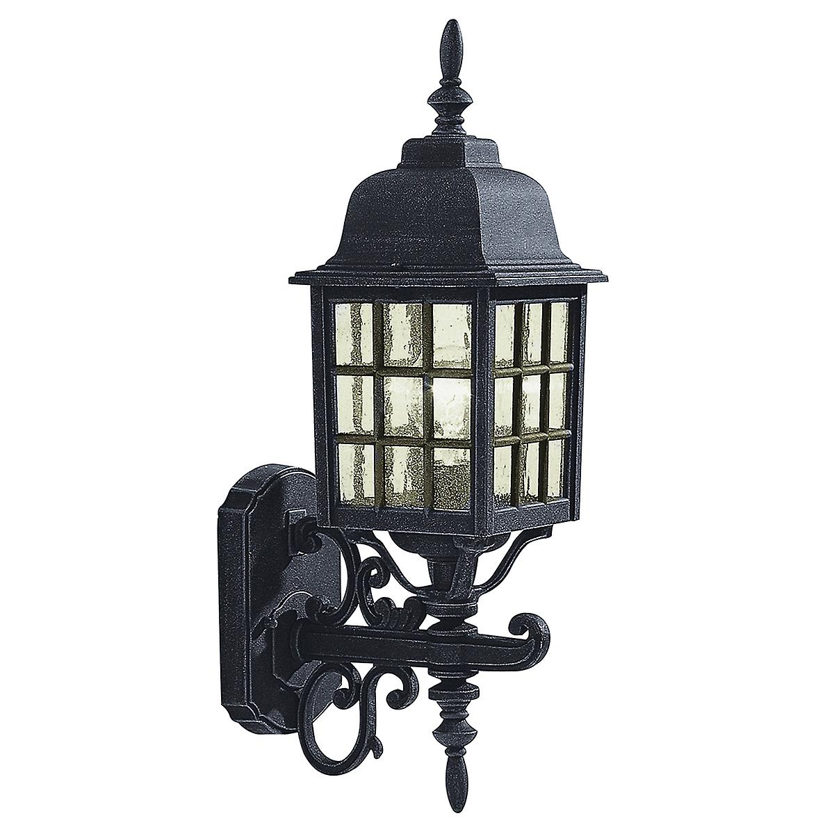 Dar NOR1622 Norfolk Wall Bracket Uplighter With A Black Finish