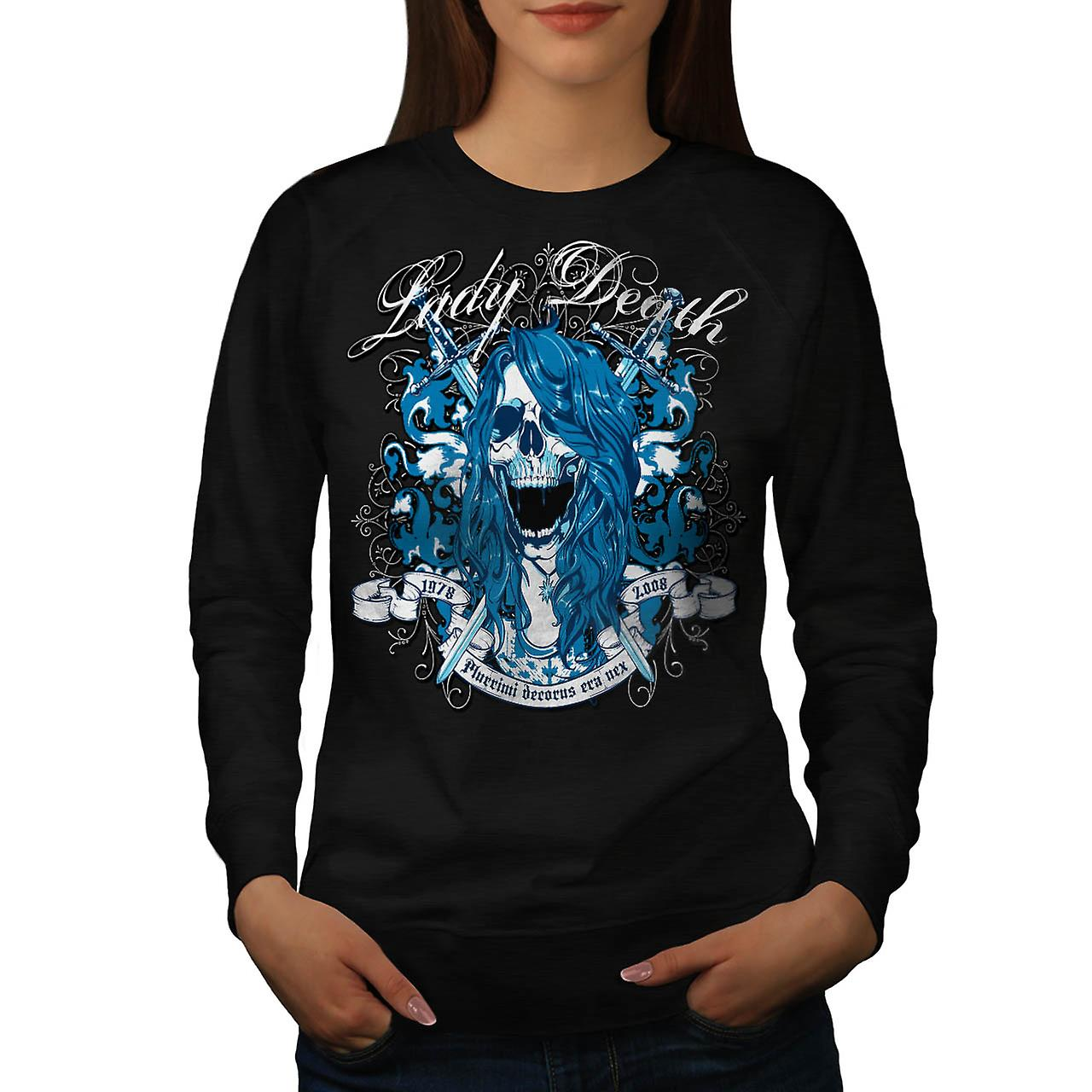 Lady Death Monster Horror Ghost Frauen Schwarzes Sweatshirt | Wellcoda