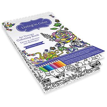 Living In Color Art Therapy Coloring Book -Azteca LIC600-B