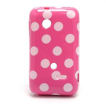Protective case for mobile phone Sony Xperia tipo ST21i ST21a Rosa