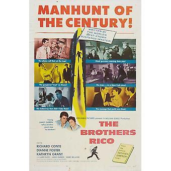 Brødrene Rico film plakat (11 x 17)