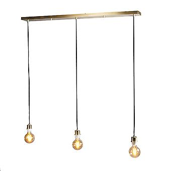 QAZQA Pendant Lamp Combi 3 Gold without Shades