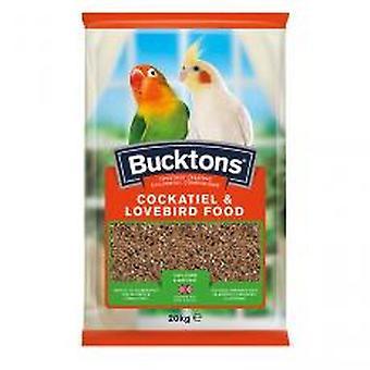 Bucktons Cockatiel y comida de Agapornis con Spiralife 500g (paquete de 4)