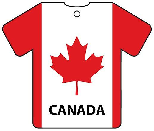 Personalised Canada Flag Jersey Car Air Freshener