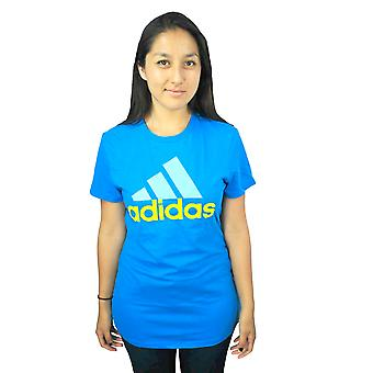 Adidas Performance Logo Women's Blue T-shirt