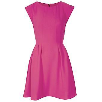 Topshop Pink Regular Crepe Seam Flippy Dress