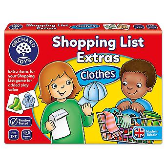 Orchard Shopping List Booster Pack Clothes New