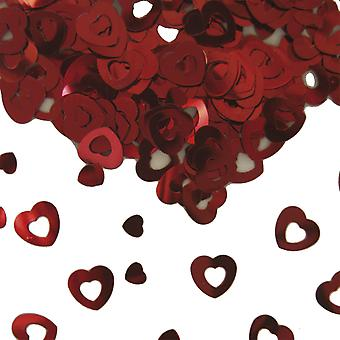 Heart table confetti wedding decoration confetti red heart