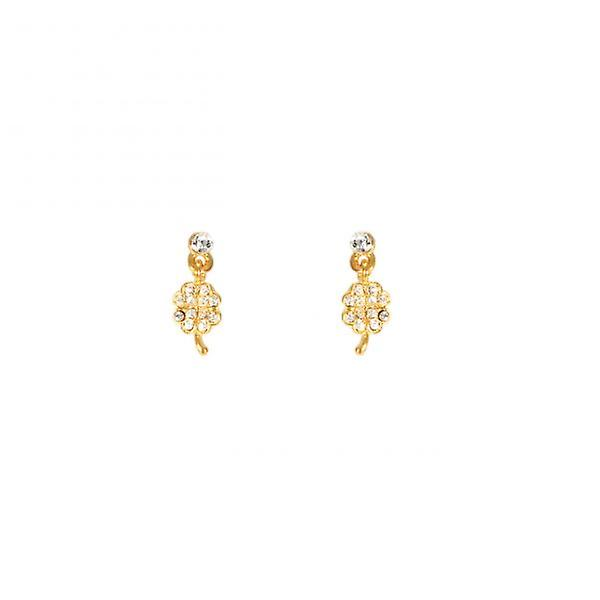 W.A.T  Crystal Four Leaf Clover Shaped Fashion Earrings