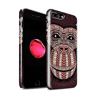 STUFF4 glans tilbake hurtigfeste Telefon etui for Eple iPhone 7 pluss / Monkey-rød Design / Aztec dyr Design Collection