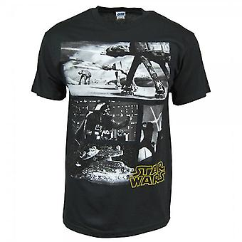 Star Wars Mens Star Wars Scenes T Shirt Black