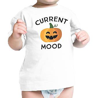 Kürbis aktuelle Stimmung niedlichen Grafik weißen Kürbis Baby T-Shirt