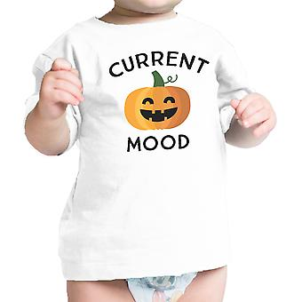 Pumpkin Current Mood Cute Baby Graphic Tee White Pumpkin Baby Shirt