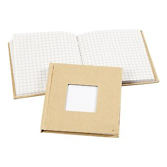 14cm Square Paper Mache Notebook With Aperture to Decorate | Papier Mache Shapes