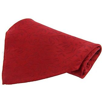 David Van Hagen Leaf Silk Handkerchief - Red
