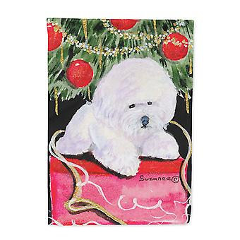 Carolines Treasures  SS8957-FLAG-PARENT Christmas Tree with  Bichon Frise Flag