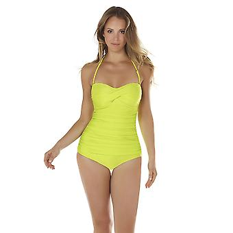Seaspray 33-2063 Women's Monteverde Chartreuse Green Shaping Swimsuit