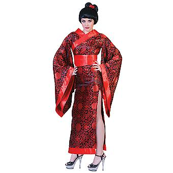 Kim Kimono rode Japan Lady Japanse Geisha Madame Butterfly vrouw kostuum