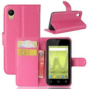 Pocket wallet premium pink to WIKO sunny 2 protection sleeve case cover pouch new