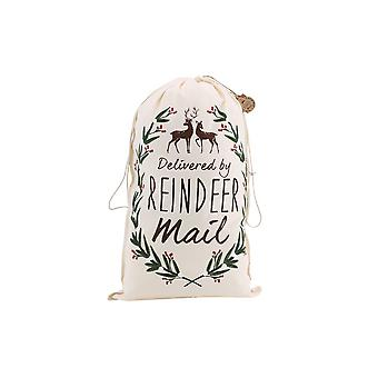 CGB Giftware Christmas Delivered By Reindeer Mail Sack