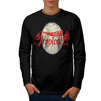 Tropical Party Urlaub Männer BlackLong Sleeve T-shirt   Wellcoda