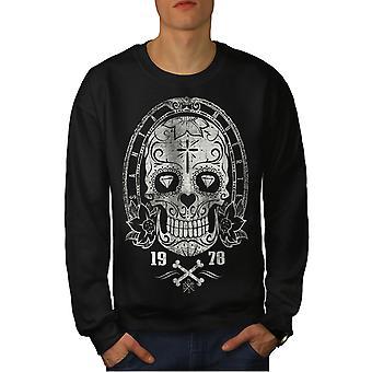 Kreuz Totenkopf Dead Men BlackSweatshirt | Wellcoda