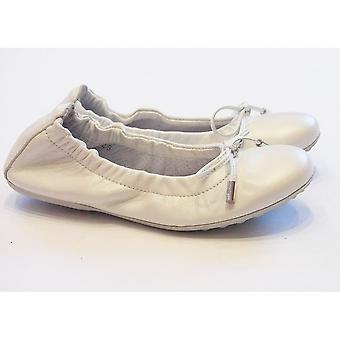 Ciao Girls White Leather Ballet Pump With Pearlescent Finish