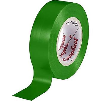 Electrical tape Coroplast Green (L x W) 10 m x 15 mm