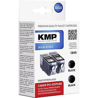 KMP Ink replaced Canon PGI-525 Compatible Dual Bla