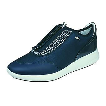 Womens Geox Trainers D Ophira E Casual Shoes - Navy
