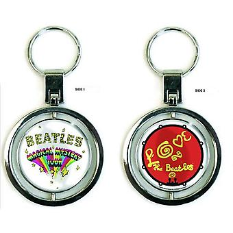 The Beatles Keyring Keychain Magical Mystery Tour Official New Silver Spin