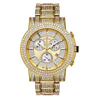 Joe Rodeo diamond men's watch - TROOPER gold 14.5 ctw