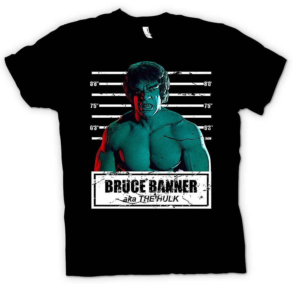 Womens T-shirt - The Hulk - David Banner - Mug Shot